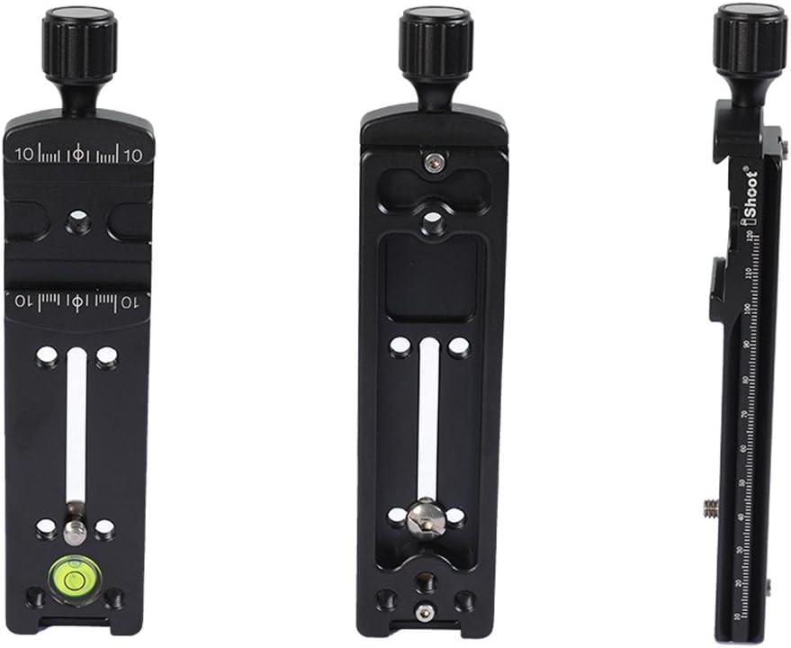 2-in-1-14/x H x B Klemme /& Schnellwechselplatte Makro lang f/ür Kamera Stativ Kugelkopf Kugelkopf