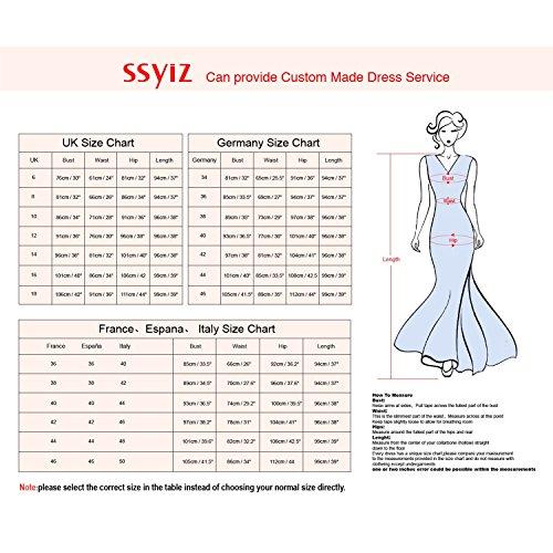 Ssyiz Mujer V-Cuello con Flores Encaje 3/4 Mangas Trabajo Cóctel MiDi Vestidos(Privado Personalizado) Rojo