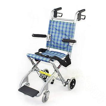 Silla de ruedas plegable ligera, silla de ruedas para niños discapacitados ancianos de viaje silla de ruedas conducción médica: Amazon.es: Salud y cuidado ...