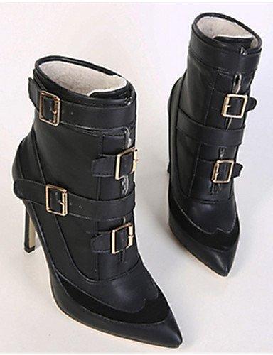 5 Black 5 Cn35 Puntiagudos Black Cn40 Negro De Casual 5 5 Uk3 Botas Stiletto Xzz Mujer Eu36 Uk6 Tacón Eu39 us5 us8 Semicuero Zapatos gTf4pnxqB