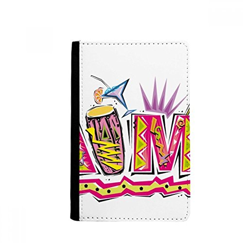 Wallet Mambo (Mexico Culture Elment Pink Mambo Slogan Passpord Holder Travel Wallet Cover Case Card Purse Gifts)
