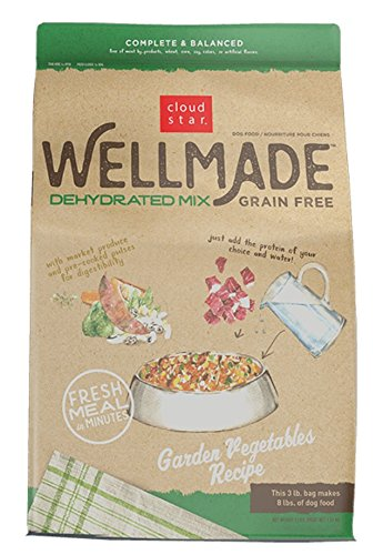 Cloud Star Wellmade Raw Dehydrated Dog Food Garden Vegetable 3lb
