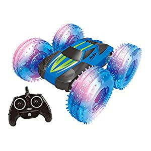 Haktoys HAK168 Double-Sided Off-Road 2.4GHz High Performance RC Stunt Car Monster Crawler with Bright LED Lights and Tumbling, Spinning Action, Safe and Durable, Present Toy for Kids, Teens and Adults