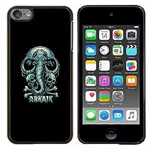 """Be-Star Único Patrón Plástico Duro Fundas Cover Cubre Hard Case Cover Para iPod Touch 6 ( Arkaik - Cráneo y elefante"""" )"""