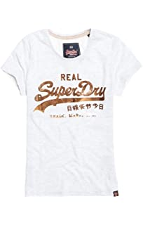 10d7703988f006 Superdry Womens Vintage Logo Tri Colour Entry Tee in Pine Green ...