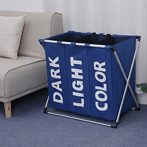 Julitech Large Laundry Basket, Collapsible Fabric Laundry Ha