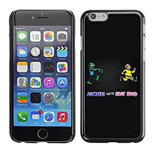 CASECO Zombie & Fast Food LOL Apple Iphone 6 - - Prima Delgada SLIM Casa Carcasa Funda Case Bandera Cover Armor Shell PC / Aliminium