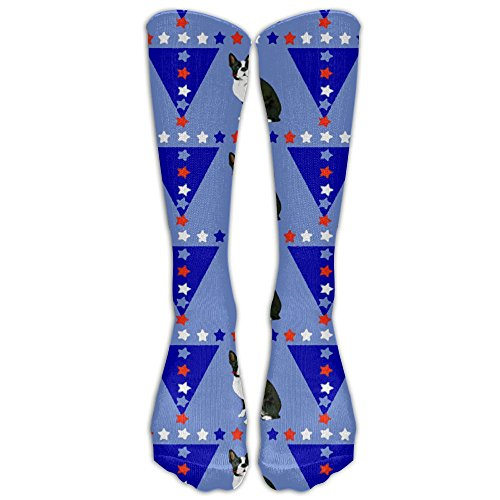 Classic Boston Terrier With Flag Pets Unisex Tube Socks Knee High Sports Classic Comfort Laser Pointer
