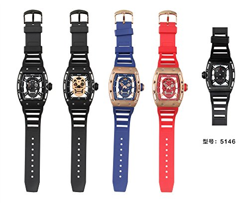 SKONE Watch Quartz Watch, Foutou Pirate Skull Style Men Military Silicone Sport Waterproof Watch Hot !!