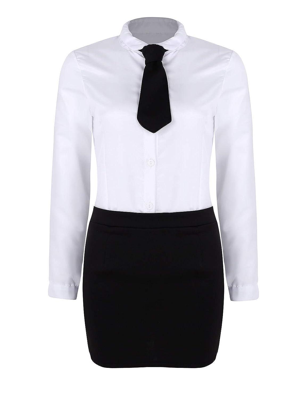 CHICTRY Disfraz de Secretaria para Mujer, Uniforme de Oficina ...