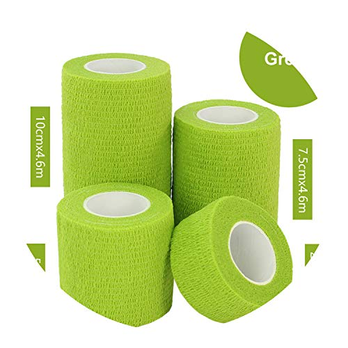 Goodforyou21 1Pc Waterproof Medical Therapy Self Adhesive Bandage Muscle Tape Finger Joints Wrap First Aid Kit Pet Elastic Bandage 13 Colors,1 Rolls Light Green,10Cmx4.5M