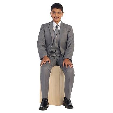 Little Boys luz Linen Gray Chaleco Pantalones Chaqueta corbata ...