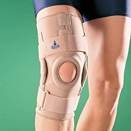 Oppo Medical Neoprene Right or Left Hinged Knee Stabilizer (Unisex; Natural), Large
