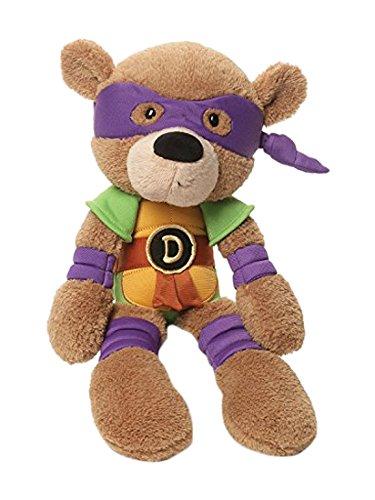 GUND Teenage Mutant Ninja Turtles Donatello Fuzzy Bear Stuffed Animal Plush, (Custom Tmnt Costumes)