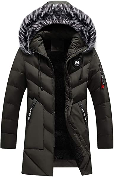 YUNY Women Sweatshirt Hooded Faux Fur Plus Velvet Wadded Jacket Navy Blue M