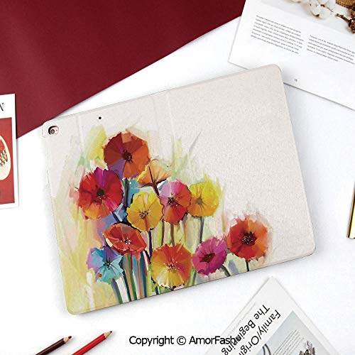 Watercolor Flower Home Decor Samsung Galaxy Tab A 8.0 Case (2015 Old Model) - Standing Cover Folio Case,Gerbera Bouquets Romance Elegance Fragrance Blossom Beauty