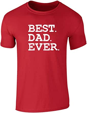 Pop Threads Best Dad Ever Gift for Dad Gift Present Graphic Tee T-Shirt for Men