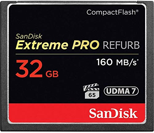 - SanDisk Extreme PRO 32GB CompactFlash Memory Card UDMA 7 Speed Up to 160MB/s- SDCFXPS-032G-X46 (Renewed)