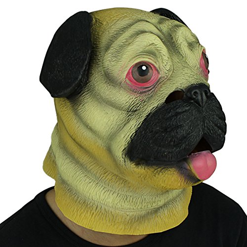 Novelty Deluxe Latex Rubber Creepy Dog Head Mask Halloween Party Costume Decorations