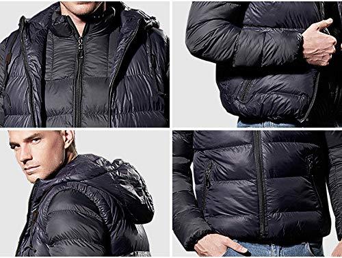 Puffer Travel Climbing Pieces Short Men's Lightweight Down amp; Coat Ultralight Winter Skiing Hiking Jacket Hooded Warm Brinny Down Vest Windproof Winter 2 Coat Black PHx1AwPp