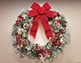 Lighted Holiday Frosted Pine Wreath by Collections Etc