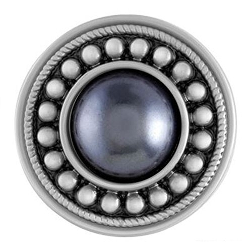 Ginger Snaps SUNBURST - GREY PEARL SN31-15 Interchangeable Jewelry Snap Accessory