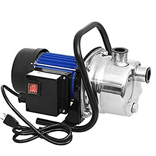 1.6HP Stainless Shallow Well Pump Water Pumps Home Garden Lawn Sprinkling Booster Pump(1.6HP/115V)