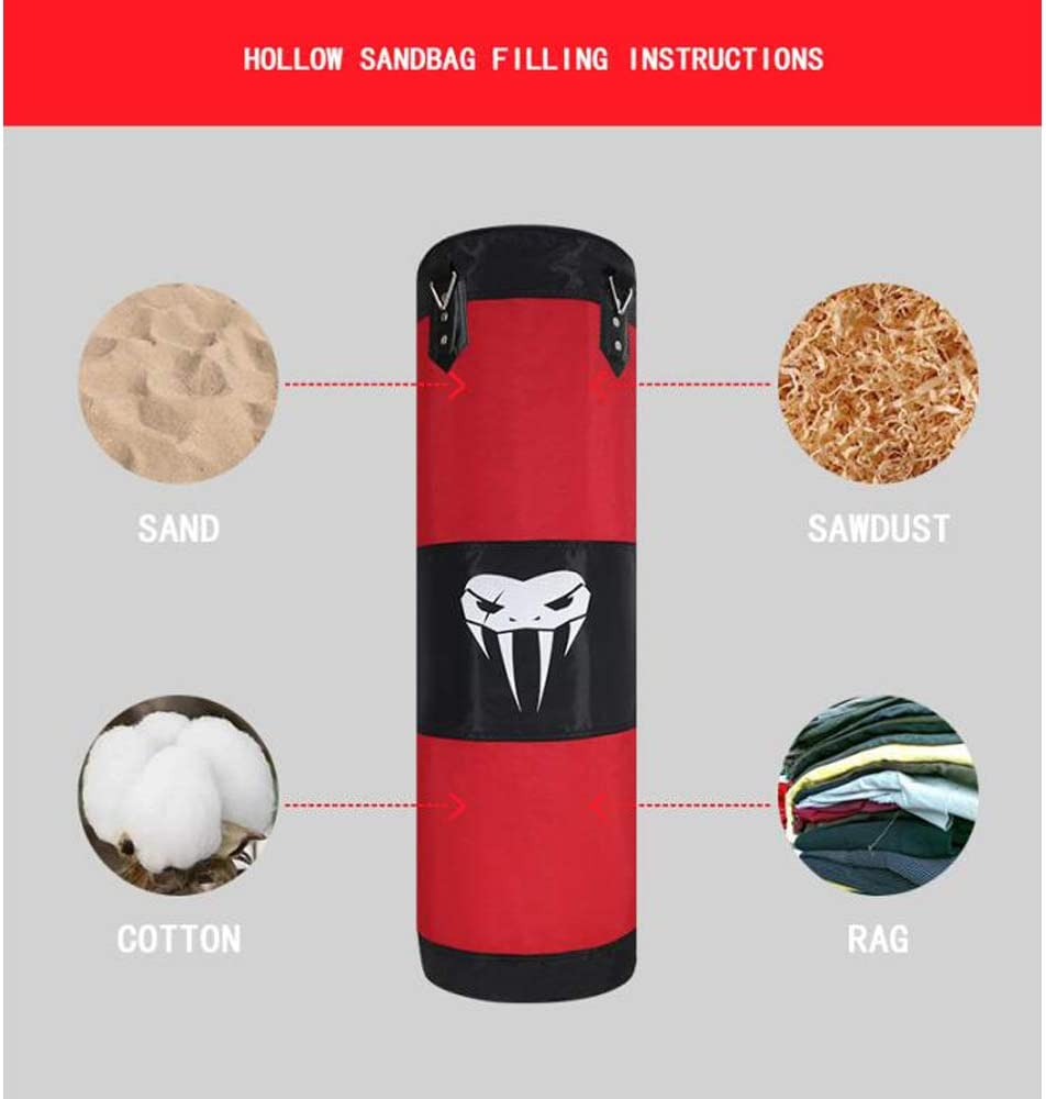 SOTF Hanging Punching Bag Fitness Muscle Training MMA Boxing Sandbag Without Filler