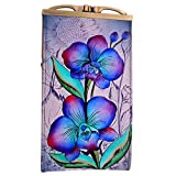 Anuschka Genuine Leather Hand Painted Eye/Sunglass Case (Floral Fantasy)