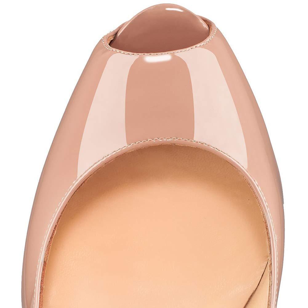 Peep Toe Lackleder Stiletto Moderne Heels,MWOOOK-477 High Heels,MWOOOK-477 Moderne Damen Klub Party Hochzeit Schuhe Größe 34-45 1b476b