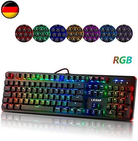 Rgb Mechanische Tastatur Leshp 105 Tasten Gaming Computer Zubehör