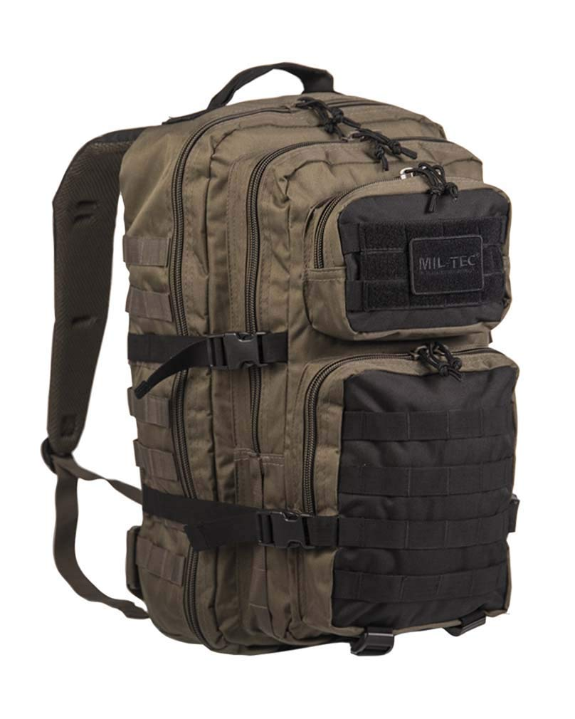 Mil-Tec US Assault Pack Backpack, Color Ranger Green/Schwarz, tamaño Small