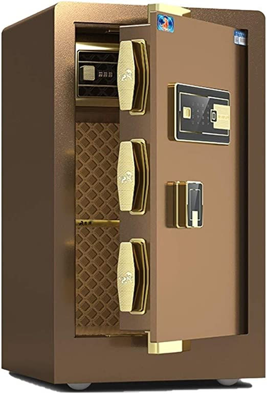 Security Lock Boxes All Steel Plate Fire Safe45cm Money Safefingerprint Password Fireproof Safe 3C Certified Electronic Password Safe Boxsecurity Lock Box Safes for Home