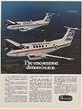 1978 US Marines US Navy Beechcraft C-12 Jetprop Airplane Aircraft Print Ad (Memorabilia) (58265)