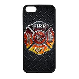 Special Metal Pattern Fire Department Firefighter TPU (Laser Technology) cases for the iphone 5 5s by icecream design