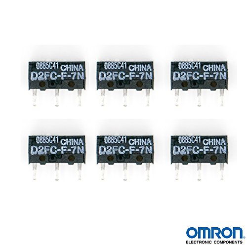 QTY 6 OMRON D2FC-F-7N Micro Switch Microswitch Switches for RAZER Logitech APPLE MS Mouse