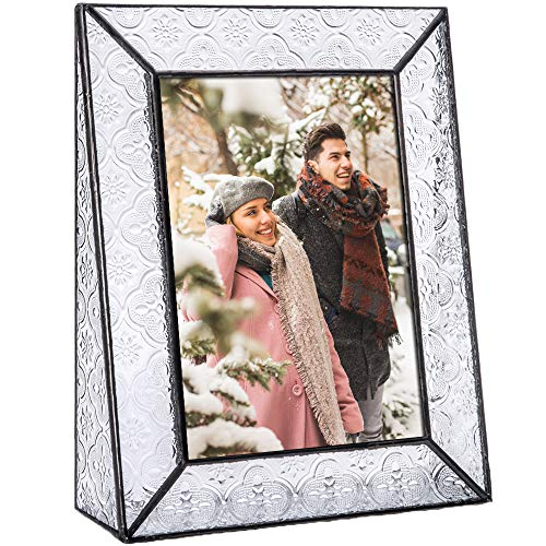 J Devlin Pic 126 Series Clear Vintage Stained Glass Picture Frame Assorted Sizes (5x7 Vertical)