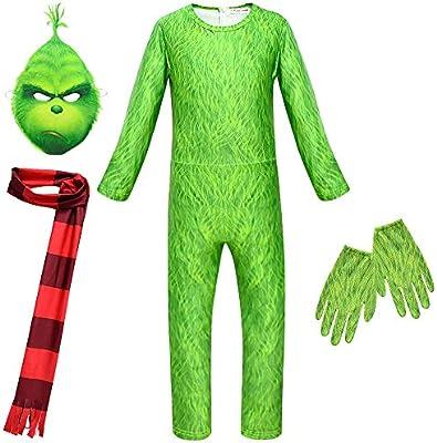 Disfraz de Grinch Traje de Cosplay Monstruo Verde con Verdes ...