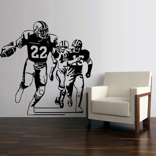 Wall Decal Vinyl Sticker Decals Football Rugby Sport Helmet Play American Man Ball Like Painting (Z3000)