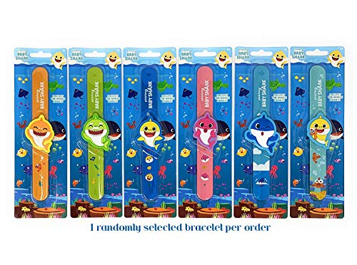 - Pinkfong Baby Shark Slap Band Bracelet with Charm