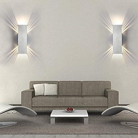 Lanfu 10W Lámpara de Pared LED Aplique de Pared Interoir ...