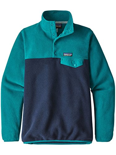 Snap Donna In Patagonia Leggera Sincronizzata Snap-t Pull Over Maglione - Nickel W / Galah Verde Elwha Blu
