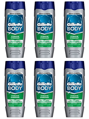 (Gillette Body Hydrator Body Wash, Dry Skin Relief, 16 Fluid Ounce (Pack of 6))
