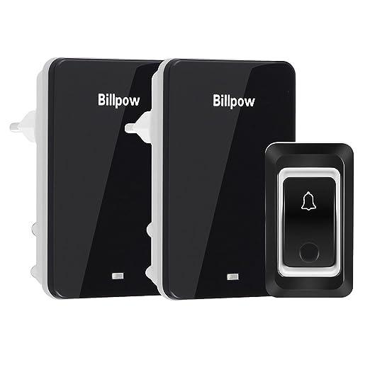 10 opinioni per Campanello Senza Fili Impermeabile, Billpow 2 ricevitori plug-in 1 trasmettitore