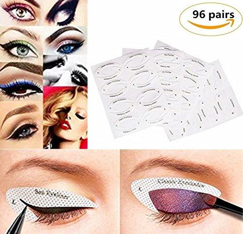 Komener 96 paires Eyeliner Modèle Stickers Smokey Shaper ombre dessin guide modèle beauté outils de maquillage rapide