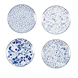 Aishankra Ceramics 4-Piece Dinner Plate Set, Fruit Plate Creative Western Dish Plate It Has National Characteristics