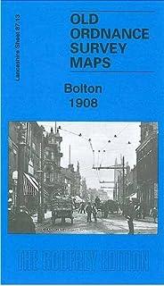 OLD ORDNANCE SURVEY MAP BOLTON NORTH 1908 ASTLEY BRIDGE ATLAS MILLS BLACKBURN RD