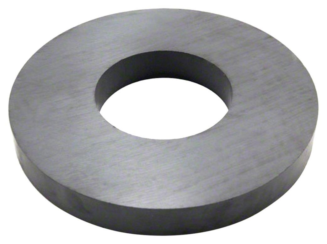 Magnet Expert 190mm O.D. x 85mm I.D. x 23mm thick Y30BH Ferrite Ring Magnet 16kg Pull