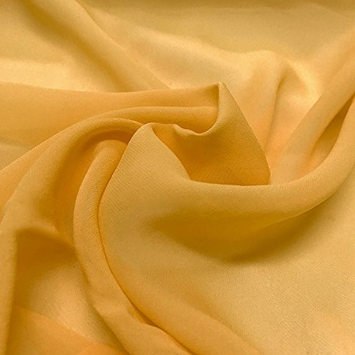 Silk Georgette Chiffon Fabric Solid 100% Silk 10mm 44