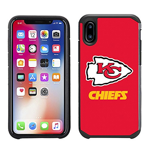 Prime Brands Group Cell Phone Case for Apple iPhone X - NFL Licensed Kansas City Chiefs Textured Solid Color